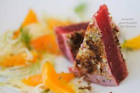 cuisiner thon thon mariné à l orange et pané à la menthe fraîche