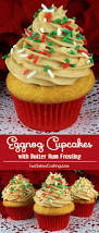 thanksgiving dinner cupcakes eggnog cupcakes with butter rum frosting two sisters crafting