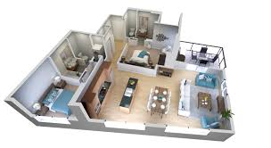 25 More 3 Bedroom 3d Floor Plans Architecture Design 4 Three Home