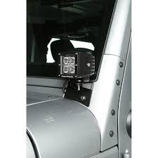 rugged ridge 11027 04 windshield auxiliary light brackets