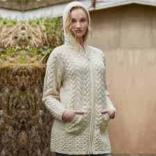 women u0027s aran cardigans and hoodies irish wool cardigans
