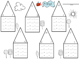 ideas collection fact triangles multiplication and division