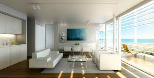 modern living with lookout interior design ideas