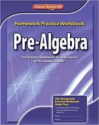 pre algebra homework practice workbook merrill pre algebra