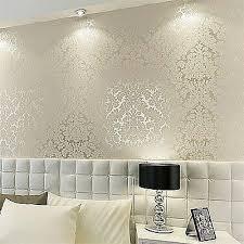 wallpaper livingroom floral textured damask design glitter wallpaper for living room