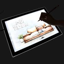 Drafting Table Light Box Homcom 19 Led Artist Stencil Board Drawing Tracing Table