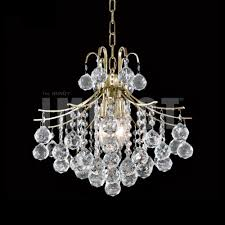 Crystal Flush Mount Lighting James Moder 40315g22 Cascade Crystal Gold Mini Chandelier Light