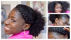 natural hair goddess braid w low puff on 3c 4a hair youtube