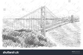 golden gate bridge san francisco california stock vector 326849501