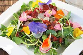 edible flowers edible flowers week sunflower sprout salad with bacon and edible