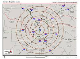 Map Of Georgia Cities Atlanta Metro Proximity Ring Map Atlanta Georgia U2022 Mappery