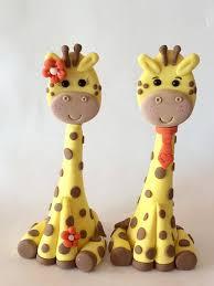 giraffe cake topper cake toppers giraffe girl or boy gumpaste baby shower animals