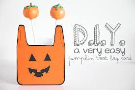 unify handmade d i y u2014easy pumpkin treat bag card