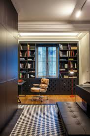 posh home interior posh private home in slovakia geometric patterns and brick walls