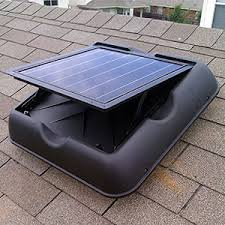 attic exhaust fan solar gable fan