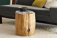 How To Make A Wood Stump End Table by Need A Tree Stump End Table No Problem Diy Del Ray
