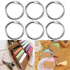 metal binder rings images 100 pcs 25mm inner diameter metal loose leaf ring binder ring clip jpg