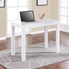 Laptop Writing Desk Parsons White Laptop Writing Desk