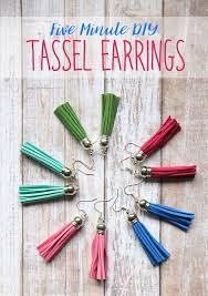 easy earrings the craft patch diy easy tassel earrings tutorial