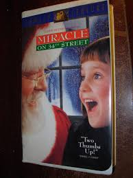 miracle on 34th street vhs 1995 vcr movie video tape u2022 4 50