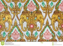 thai design traditional thai pattern design on wal stock image image of