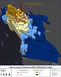 Top Spot Maps The Best Place For Amazon U0027s Hq2 In Southern California Isea