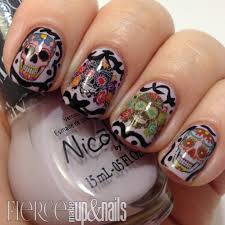 sugar skull nail decals assortment set 1 u2013 moon sugar decals
