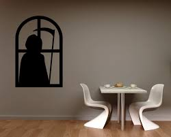 holiday and seasonal wall decals grim reaper window silhouette vi holiday seasonal decals