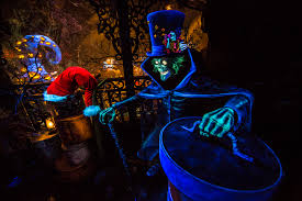 first look hatbox ghost joins the celebration in haunted mansion
