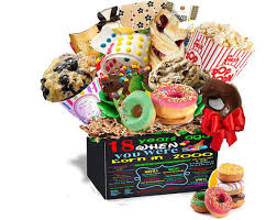 birthday gift basket 18th birthday gift basket box 2000 gourmet fresh snacks made