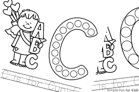 c is for cupid dot marker coloring pages simple fun for kids