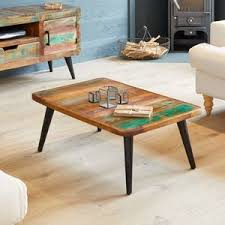 wood coffee table with wheels copper and industrial coffee tables notonthehighstreet com