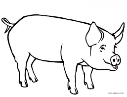 free printable pig coloring pages for kids cool2bkids throughout
