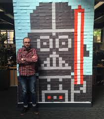 star wars office your office needs giant u0027star wars u0027 murals made from post it notes