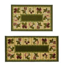 kitchen rugs with fruit design wayfair