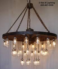 wagon wheel light fixture ww755 rustic wagon wheel chandelier light fixture with hanging