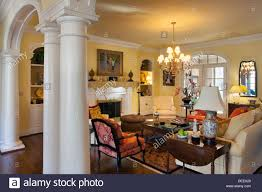 luxury home interiors luxury home interior in nashville tennessee usa stock photo