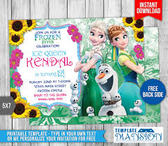 disney frozen fever birthday invitation by templatemansion on