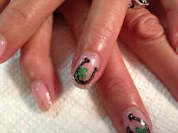horse shoe nail art on shellac designs by rachel pinterest