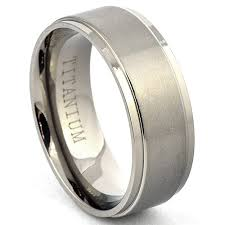 mens titanium wedding ring titanium ring wedding band brushed jewelry