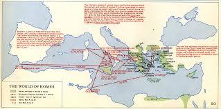 odyssey map mythology homer