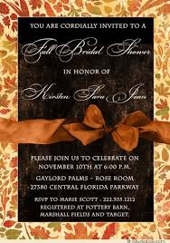 wedding shower invitation fall bridal shower invitation autumn leaves harvest