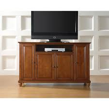 cherry wood tv stands cabinets crosley furniture cambridge 60 inch classic cherry wood tv stand