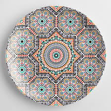 moroccan tile fez moroccan tile dinner plates set of 4 world market