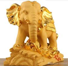 new products velvet gold lucky elephant ornaments a pair of