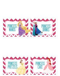 princess party free printable