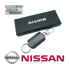 nissan genuine accessories canada smart key chain keychain nismo v1 genuine leather black fit all
