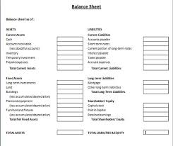 Restaurant Balance Sheet Template Classified Balance Sheet Template Excel