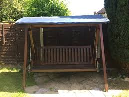 3 Seater Garden Swing Chair 3 Seater High Quality Wooden Garden Swing Hammock Bench