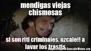 Alfonso Zayas Meme - mendigas viejas chismosas si son riti criminales uzcale a lavar